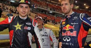 Lorenzo, Schumacher, Vettel