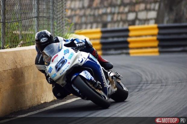 Guy Martin podczas GP Macau w 2005 roku
