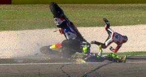 Wideo: GP Aragonii – Wypadek Espargaro i Petrucciego